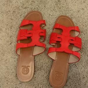 Tory Burch Anchor T Slide Sandals